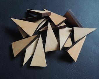 10 Pcs 20x40mm no hole  wood triangle  (NW192)