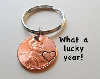 9 Different Dates Penny Keyrings  Australian Penny Souvenier Gift Key Ring