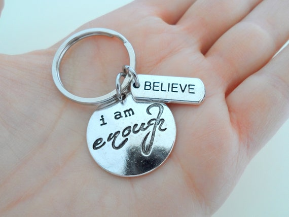 Going Away Gift Believe Keychain Graduate Gift Graduation Gift I am Enough Keychain Gift for Graduation Encourage Class of 2021 Gift