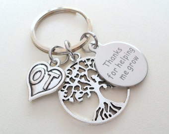 Occupational Therapist Appreciation Gift, Keychain Gift for OT, OT Appreciation Gift, Thank You Gift for Occupational Therapist, Tree & Disc