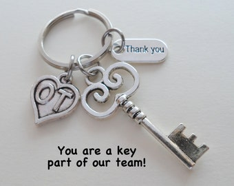 Occupational Therapist Appreciation Gift, Keychain Gift for OT, OT Appreciation Gift, Thank You Gift for Occupational Therapist