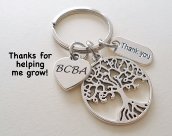 Certified Behavior Analyst Appreciation Gift, Keychain Gift for BCBA or LBA, Behavior Therapist Thank You Gift, Behavior Technician Therapy