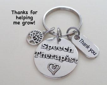 Speech Therapist Appreciation Gift, Keychain Gift for Speech Language Pathologist Appreciation, Speech Language Pathology Thank You Gift