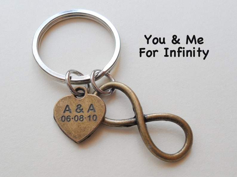 Infinity Love Symbol Keychain You And Me For Infinity