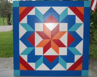 2' x 2' Barn Quilt With Special Pattern