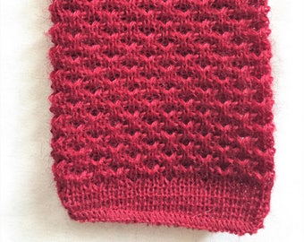 Vintage 80s Pendleton Maroon Wool Crunchy Knit Square End Tie