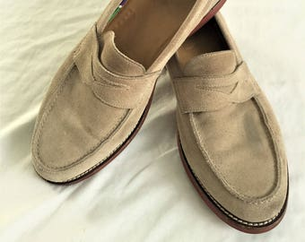 3d1f8c229ff Newer Vintage Polo Ralph Lauren Tan Suede Penny Loafers 11.5D