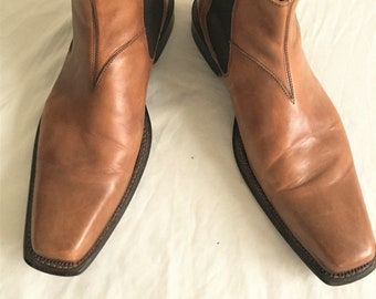 Newer Vintage Mercanti Fiorentini Tan Beatle Boots Chelsea Boots 12M