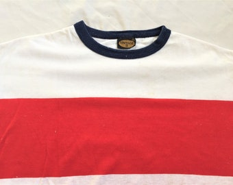 92704b40d96d3f Vintage 70s Vintage II Red White Blue Striped T Shirt XL