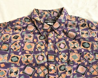 ce4f82cd4 Vintage 80s Guess by Georges Marciano Patterned Shirt XL