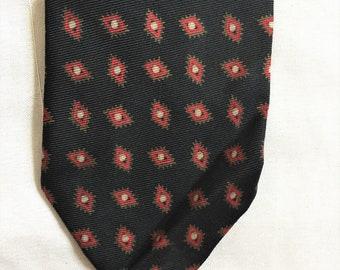 da18f294bcd7 Vintage 50s Brooks Brothers Black Red Patterned Skinny Tie