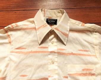ef01bcc0 Vintage 70s JCPenney Desert Scene Print Shirt Small/Medium
