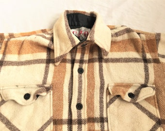 c5b88be3a78 Vintage 70s CPO By Vanderbilt Flannel Shirt Jacket Small