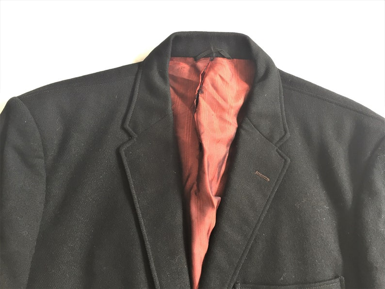 Vintage 60s Bill/'s Cothes Black Triple Patch Pocket 3 Roll 2 Sport Coat 40
