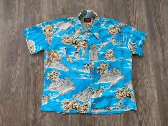 Vintage 70s Kingsport Rayon Aloha Hawaiian Shirt … - image 2