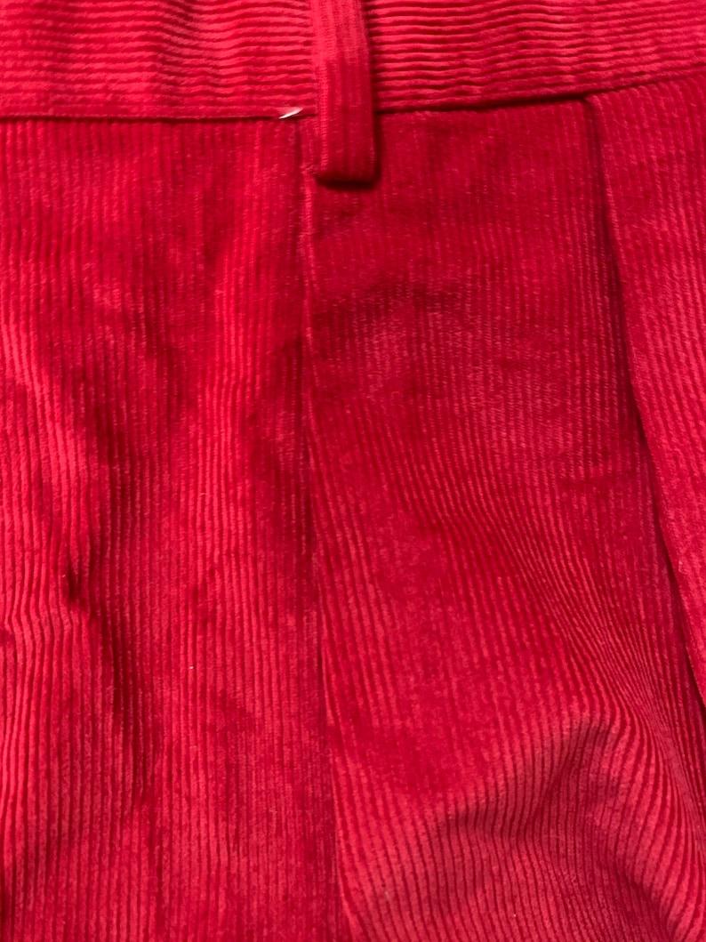Newer Vintage Ben Silver Red Corduroy Pants 40x30