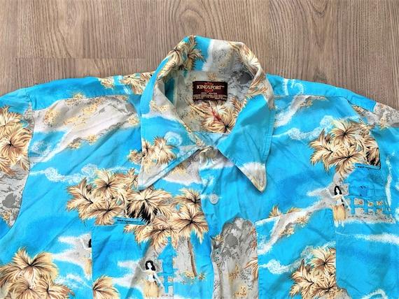 Vintage 70s Kingsport Rayon Aloha Hawaiian Shirt … - image 1