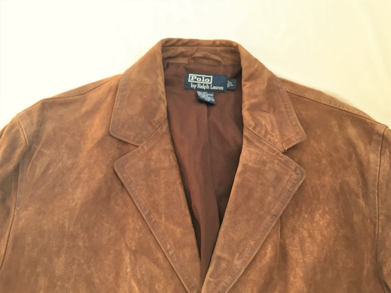 Ralph 90s Polo Waxed Vintage Lauren Belted Leather Large Back Jacket KluT1FJc3