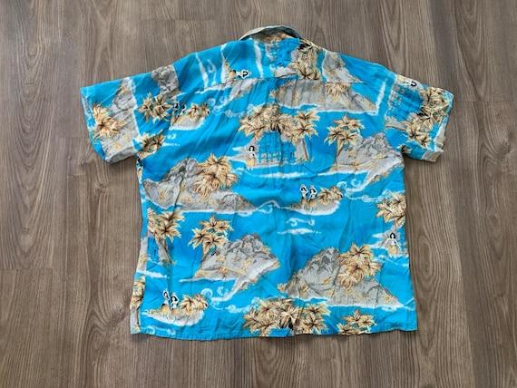 Vintage 70s Kingsport Rayon Aloha Hawaiian Shirt … - image 3