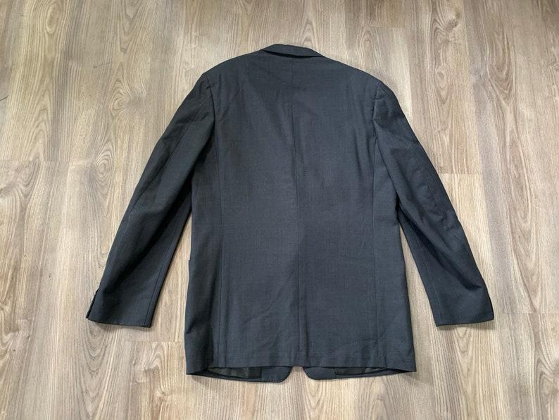 Vintage 50s DAKS Dark Blue Suit 39L 35x30