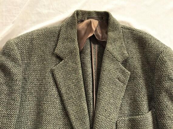 Vintage des années 50 Champion Harris Tweed gris poche Triple Sport Coat 42