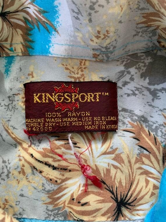 Vintage 70s Kingsport Rayon Aloha Hawaiian Shirt … - image 4