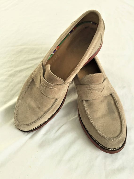 62591a2e1a8 Newer Vintage Polo Ralph Lauren Tan Suede Penny Loafers 11.5D
