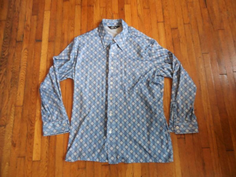 Vintage 70s JCPenney Geometric Pattern Shirt XL