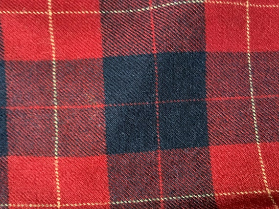 Vintage 80s Neil's Blue Red Plaid Pants 35x31 - image 4