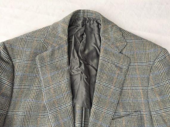 Plus récent Vintage Luciano Barbera Glen Plaid poche plaquée Sport Coat 40