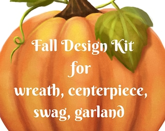 DIY wreath kit, DIY centerpiece kit, DIY Fall kit
