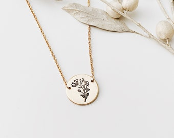 Wild Poppy Necklace