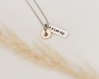 Rise Up Pine Tree Necklace