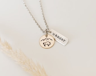 Wander Bison Mountain Necklace