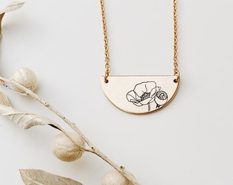 Poppy Semi-Circle Necklace