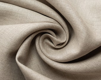 Organic Yarn Dyed Linen, Natural, Birch Fabrics