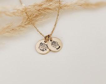 Plant Lover's Necklace, Plant Lady, Pilea, Pothos