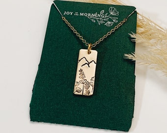 Wildflowers Dancing Necklace, Mountains
