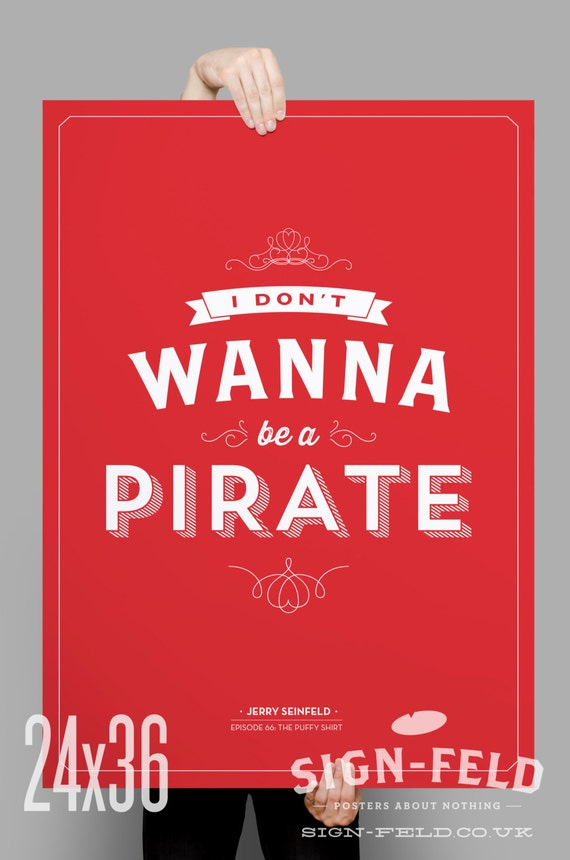HUMOR POSTER The Pirate Code 24x36