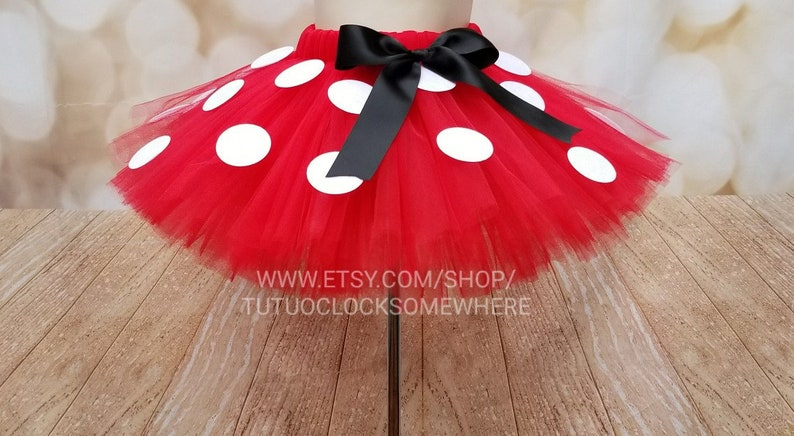e4adbe12a2382 Minnie Mouse Tutu Mickey Mouse Tutu First Birthday Party First Birthday  Outfit Halloween Cake Smash 5K Baby Infant Toddler Teen Adult