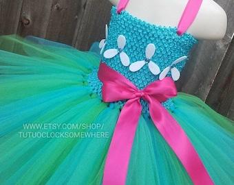 Customizable Poppy Troll Inspired Tutu Dress, Poppy Dress, Poppy Outfit, Poppy Costume, Troll Costume, Poppy Birthday Outfit