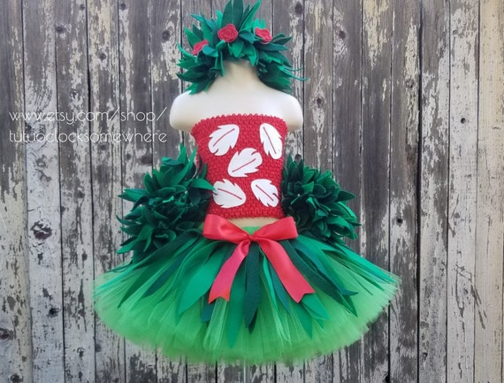 2-Piece Set Lilo Costume First Birthday Party Birthday Outfit Hawaiian Luau Tropical Rainforest Stitch Scrump Halloween Baby Infant Toddler