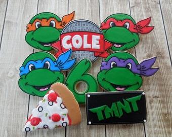Teenage Mutant Ninja Turtle Cookies, TMNT Cookies, Boys Birthday, Sugar Cookies, Turtle Cookies, Birthday Cookies