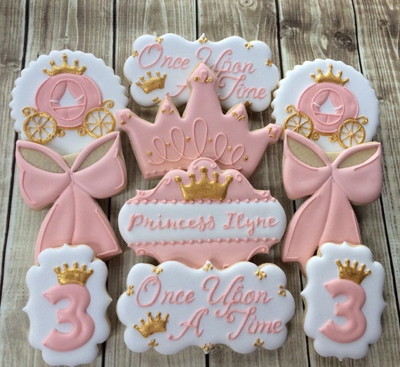 1 Dozen Decorated Cookies Princess Baby Girl Theme Favors Or Dessert Table