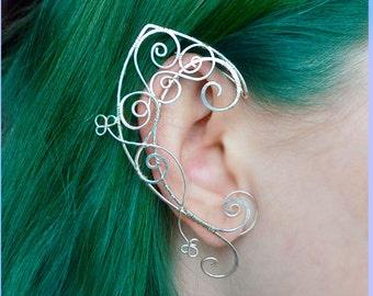 Elven ear cuffs / Elven ears, fairy ear cuffs, silver ear cuff, LOTR, elvish, wire ear cuffs