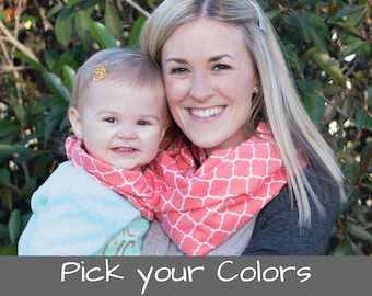 Gifts For New Moms Matching Mom And Daughter Scarves To Be Gift Mother Baby Outfits