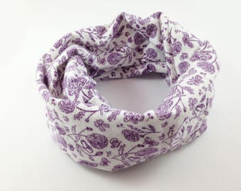 Girls Purple Scarf Girls Birthday Gift Girls Infinity Scarf Child Scarf Kids Infinity Scarf Kids Scarf Girls Scarves Girls Scarfs