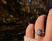 Australian Opal Size 6.5 Sterling Silver Ring