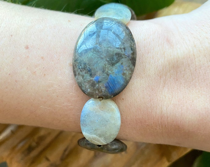 Featured listing image: Labradorite Stretchy Bracelet