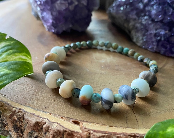 Featured listing image: Amazonite & African Turquoise Stretchy Bracelet